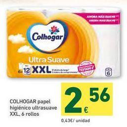 Oferta de Papel higiénico Colhogar por 2,56€