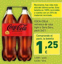 Oferta de Refresco de cola Coca-Cola por 2,5€