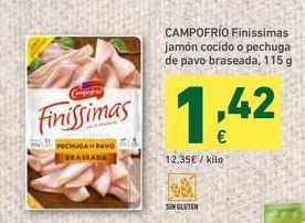 Oferta de Jamón cocido Campofrío por 1,42€