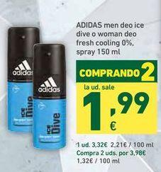Oferta de Desodorante en spray Adidas por 3,32€