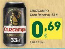 Oferta de Cerveza Cruzcampo por 0,69€