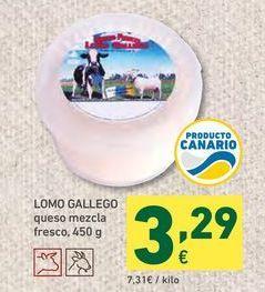Oferta de Queso lomo gallego por 3,29€