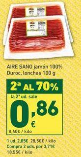 Oferta de Jamón Aire Sano por 2,85€