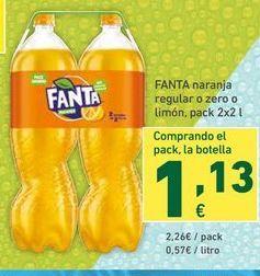 Oferta de Refresco de naranja fanta por 2,26€