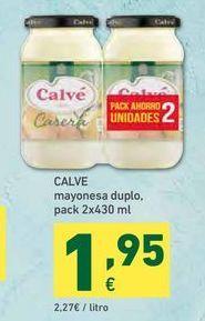 Oferta de Mayonesa Calvé por 1,95€