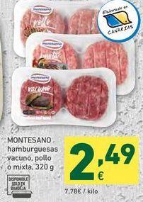 Oferta de Hamburguesas Montesano por 2,49€