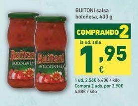 Oferta de Salsa boloñesa Buitoni por 2,56€