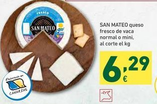 Oferta de Queso fresco san mateo por 6,29€