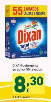 Oferta de Detergente en polvo Dixan por 8,3€