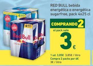 Oferta de Bebida energética Red Bull por 3,85€