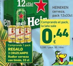 Oferta de Cerveza Heineken por 5,28€