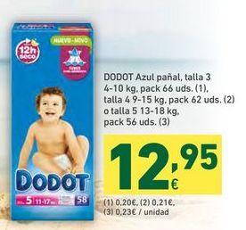 Oferta de Pañales Dodot por 12,95€