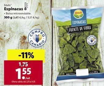 Oferta de Espinacas edulis por 1,55€