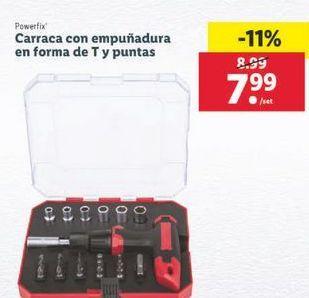 Oferta de Carraca con empuñadura en forma de T y puntas Powerfix por 7,99€