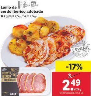 Oferta de Lomo de cerdo ibérico adobado por 2,49€