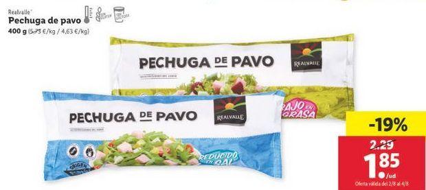 Oferta de Pechuga de pavo Realvalle por 1,85€
