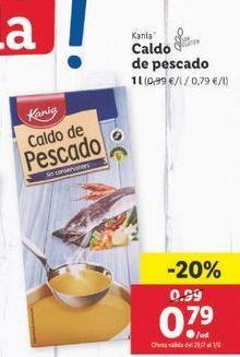 Oferta de Caldo de pescado Kania por 0,79€