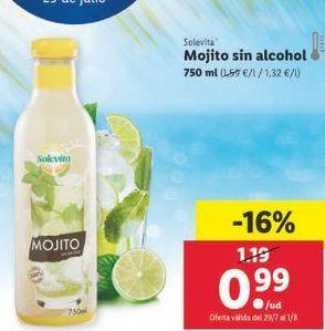 Oferta de Mojito sin alcohol solevita por 0,99€