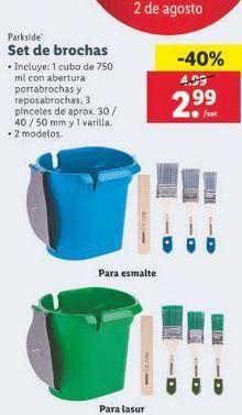 Oferta de Set de brocha Parkside por 2,99€