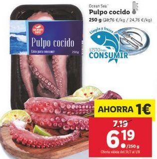 Oferta de Pulpo cocido ocean sea por 6,19€