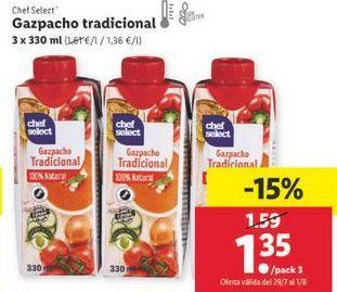 Oferta de Gazpacho chef select por 1,35€