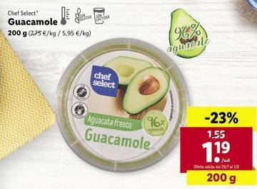 Oferta de Guacamole chef select por 1,19€