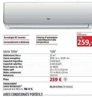 Oferta de Aire acondicionado por 259€