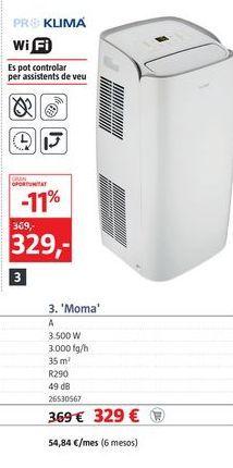 Oferta de Aire acondicionado por 329€
