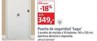 Oferta de Puerta de seguridad por 1€