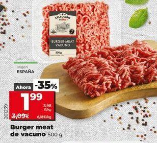 Oferta de Burger meat de vacuno 500 g por 1,99€