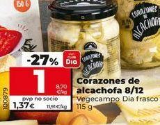 Oferta de Corazones de alcachofa Dia por 1€