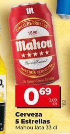 Oferta de Latas de cerveza Mahou por 0,69€