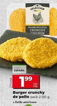 Oferta de Hamburguesas de pollo por 1,99€