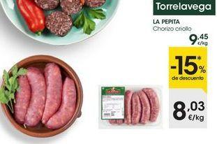 Oferta de Chorizo criollo por 8,03€