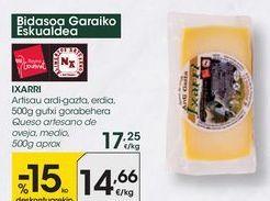 Oferta de Queso de oveja Ixarri por 14,66€
