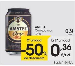 Oferta de Cerveza Amstel por 0,72€