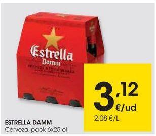 Oferta de Cerveza Estrella Damm por 3,12€