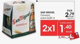 Oferta de Cerveza San Miguel por 2,79€