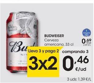 Oferta de Cerveza Budweiser por 0,69€