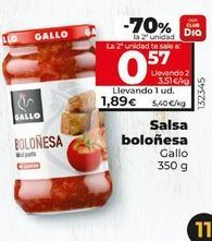Oferta de Salsa boloñesa Gallo por 1,85€