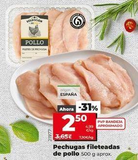 Oferta de Pechuga de pollo por 2,5€