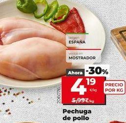 Oferta de Pechuga de pollo por 4,19€