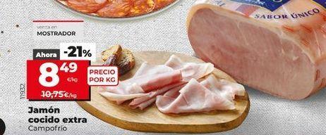 Oferta de Jamón cocido Campofrío por 8,49€