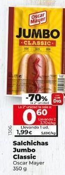 Oferta de Salchichas Oscar Mayer por 1,99€