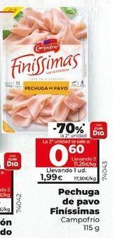 Oferta de Pechuga de pavo Campofrío por 1,89€