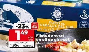 Oferta de Filetes de caballa por 1,89€