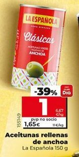 Oferta de Aceitunas rellenas de anchoa por 1,59€
