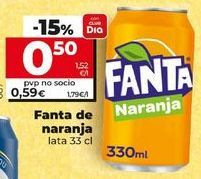 Oferta de Refresco de naranja fanta por 0,56€