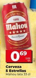 Oferta de Cerveza 5 estrellas por 0,69€