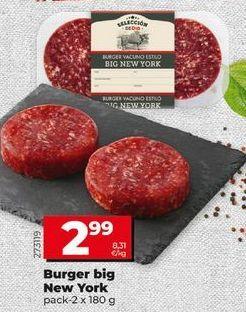 Oferta de Hamburguesas por 2,99€
